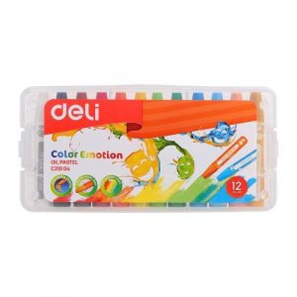 Пастели 12цв. маслени Deli Color Emotion 20104