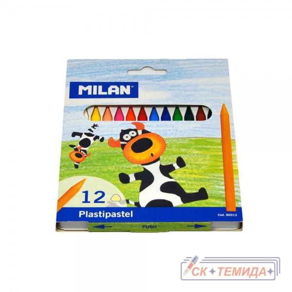 Пастели Милан 12цв. пластипастели